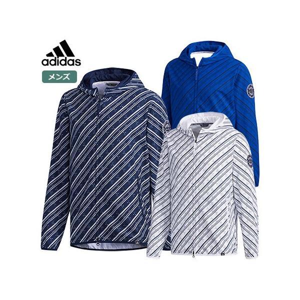 02147899718b93 アディダス メンズ ADICROSS クラブプリント 長袖フーディーウインドジャケット FVE76 adidas 2019春夏モデル 日本