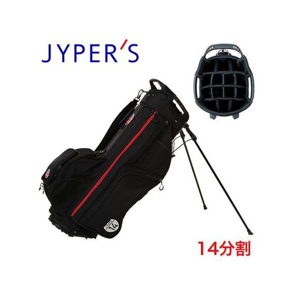 ジーパーズ 14分割スタンドキャディバッグ 9.5型 JYPEH002 ブラック 2020年モデル