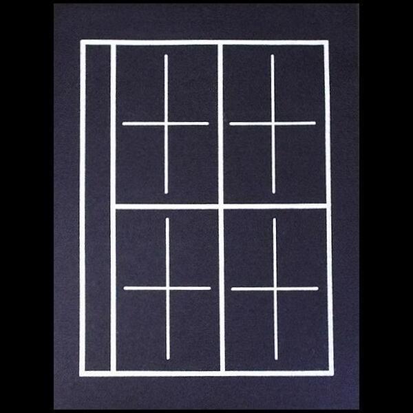 下敷毛氈 半紙用 罫線入りサイズ 300×400mm 厚さ2ミリ|jyukodo|04
