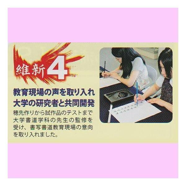 小筆 維新 ISHIN 書きあじ良く お手入れ簡単新感覚小筆|jyukodo|05