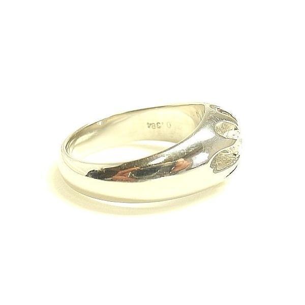 ダイヤモンドリング PT900プラチナ 宝石鑑定書付 Fカラー SI1 Verygood 指輪 0.384カラット 一粒ダイヤリング 幅広