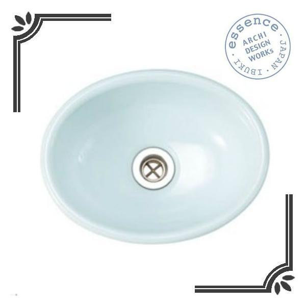 イブキクラフト ESSENCE 手洗器 E350027  手洗器 Sオーバル スロウカラーズ 縹色(はなだいろ)