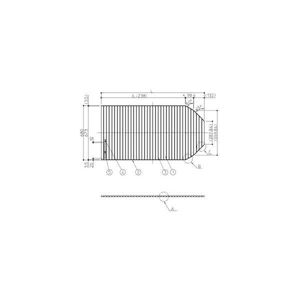 TOTO 風呂フタ シャッター付フロ蓋 EKK81006W3(EKK81006W2の新品番) L寸法:1186 1200用