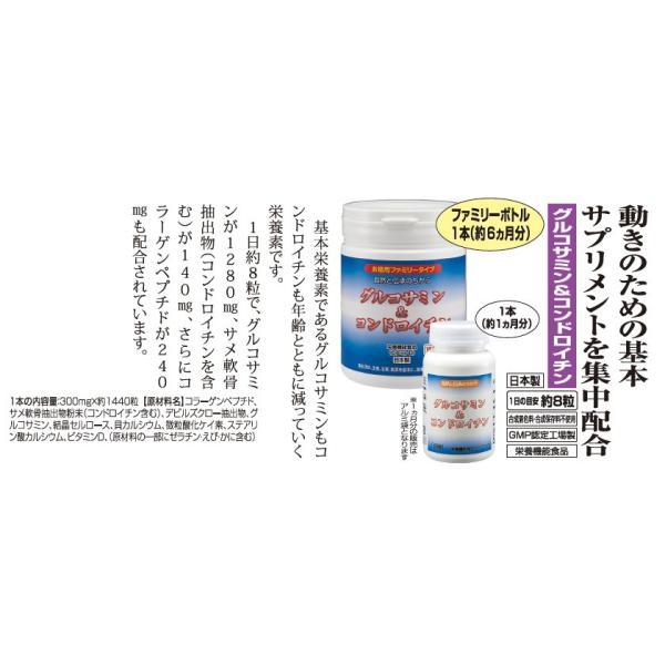 サプリメント グルコサミン & コンドロイチン (ファミリーボトル) 1本(1440粒) 約6ヶ月分 - ほほえみ元気クラブ|k-1ba|02