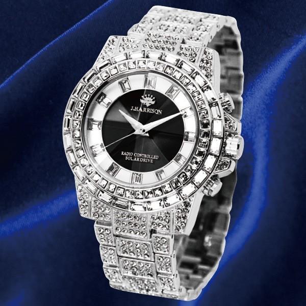 英国デザイン シャイニングソーラー時計 シルバー k-1ba