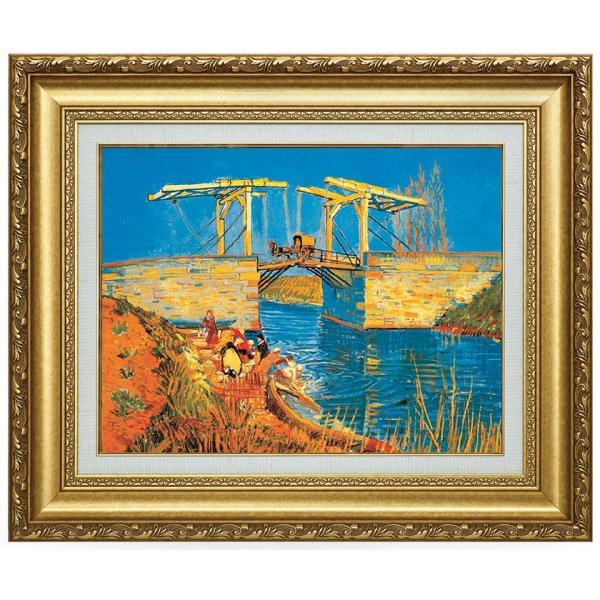 ゴッホ アルルの跳ね橋(馬車) 立体複製名画 美術品 レプリカ - アートの友社|k-1ba