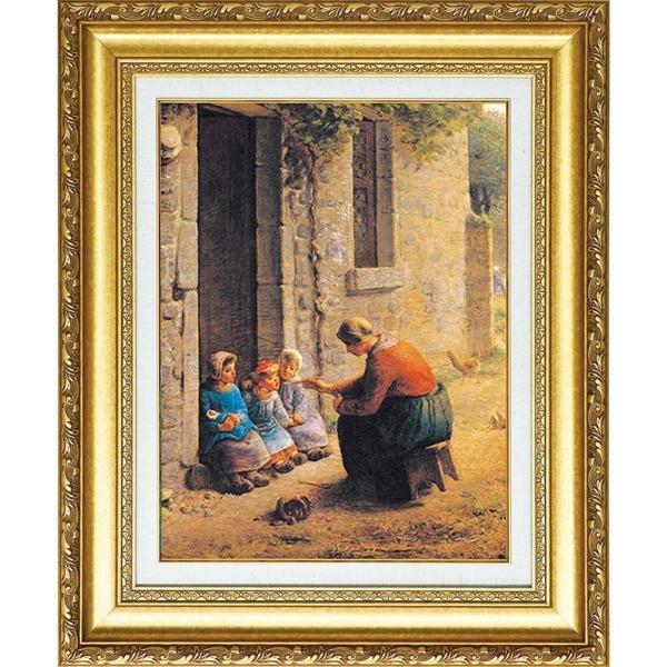ミレー 複製名画 「子供たちに食事を与える農婦」 美術品 絵画 - アートの友社|k-1ba