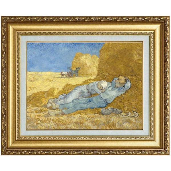 フィンセント・ファン・ゴッホ 複製名画 「仕事の間の休息」 F6号 - アートの友社 k-1ba