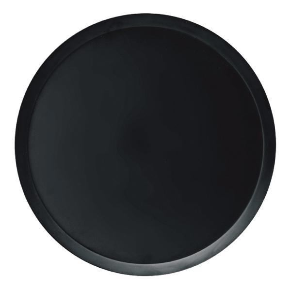 PVトレー BK(ブラック) φ34×H2cm メラミン製 トレイ お盆