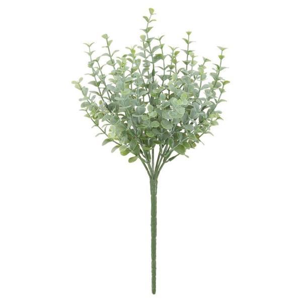 人工観葉植物 屋外対応 フロストユーカリブッシュ 32cm フェイクグリーン 観葉植物 造花 光触媒 CT触媒 インテリア(G-L)
