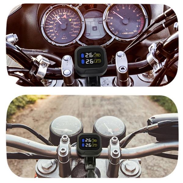 TPMS タイヤ 空気圧監視モニター ワイヤレス センサー (2個)オートバイ用 防水 k-havens 06