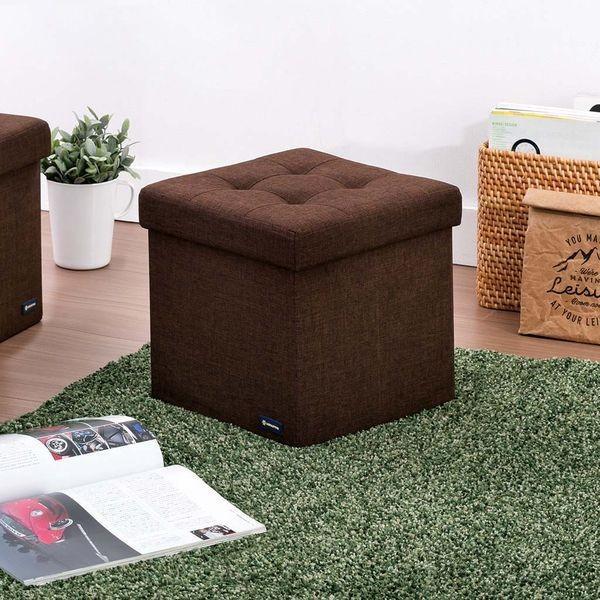 武田コーポレーション コンパクト収納スツール ブラウン M7-CDS30BR 収納ボックス オットマン BOXスツール いす 椅子 イス ファブリック|k-mori|06