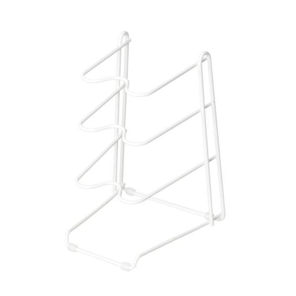 ● パール金属 ブランキッチン フライパンラック 3段 ホワイト 白 HB-3606 キッチン収納 ラック 整理整頓 シンク下 縦置き 横置き