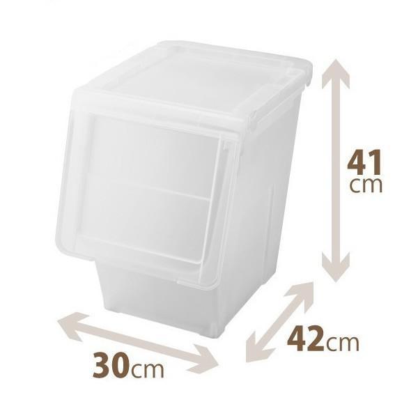 天馬 PRX カバコ スリムL クリア 収納ケース 収納ボックス 小物収納 TENMA フラップ スタッキング|k-mori