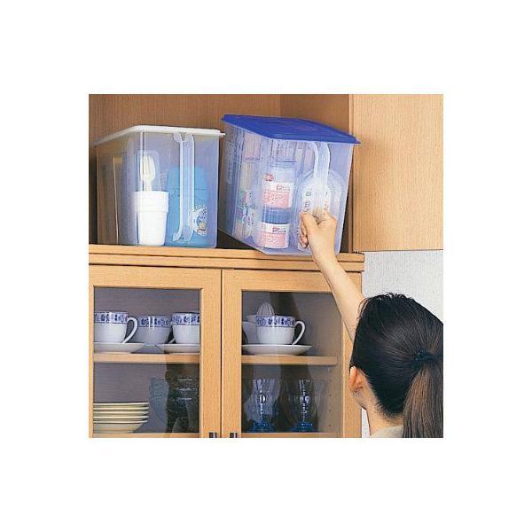 保存容器 イノマタ ハンディストッカー ホワイト キッチン 保存 ふた付 収納 ケース 4905596122562|k-mori|02