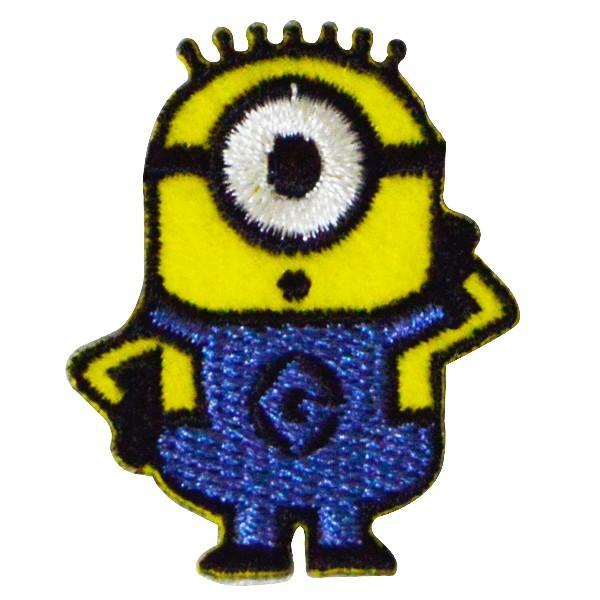 ミニオンズ ワッペン アップリケ キャラクター カール アイロン 接着 刺繍ワッペン 正規品 メール便|k-oneshop|02