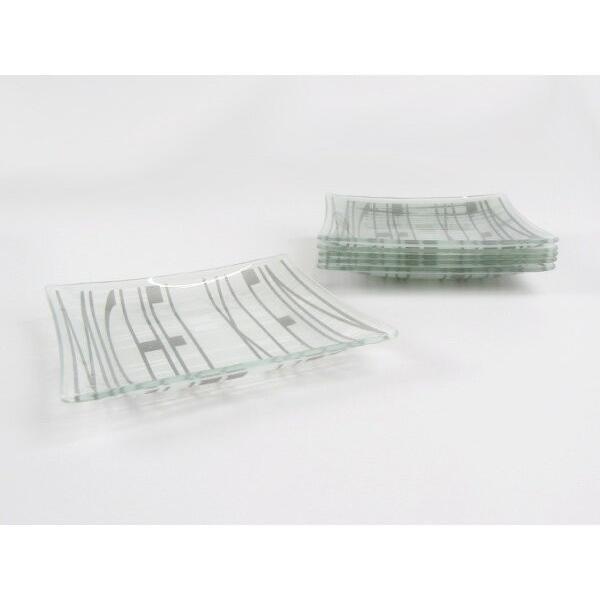 MICHEL KLEIN 軽量 スクエア ガラスプレート 小 13.8cm 洋食器 白い食器 四角 角皿 お皿 プレート 小皿 取り皿 銘々皿 ケーキ皿 カフェ風 軽い おしゃれ モダン|k-s-kitchen|06