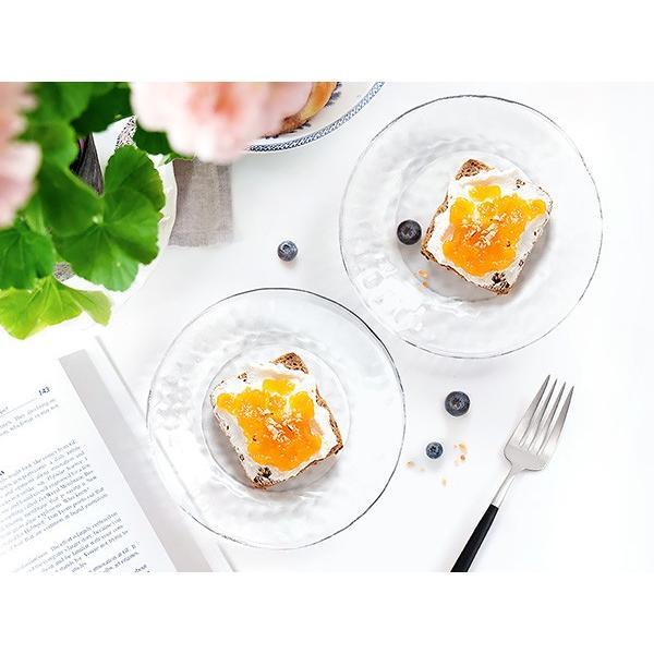 キラキラ ガラスの小皿 13.5cm アウトレット込 日本製 洋食器 ガラス食器 ガラス製 お皿 プレート 取り皿 副菜皿 醤油皿 デザート皿 カフェ風 北欧風 おしゃれ k-s-kitchen 03