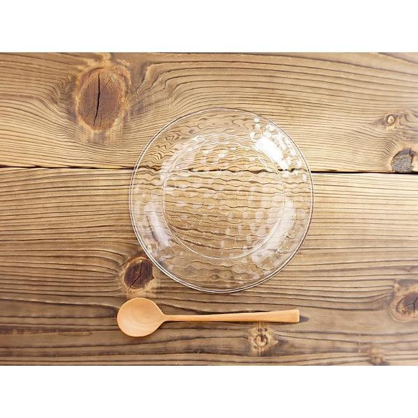 キラキラ ガラスの小皿 13.5cm アウトレット込 日本製 洋食器 ガラス食器 ガラス製 お皿 プレート 取り皿 副菜皿 醤油皿 デザート皿 カフェ風 北欧風 おしゃれ k-s-kitchen 10