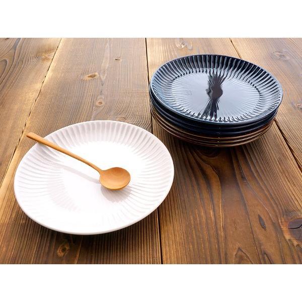 【LINE】選べる3色 中皿 20.4cm アウトレット込 日本製 美濃焼 陶器 洋食器 プレート パスタ皿 サラダ皿 主菜皿 ケーキ皿 デザート皿 北欧風 おしゃれ モダン|k-s-kitchen|11
