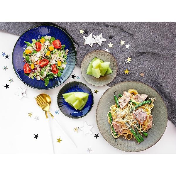 【選べる2色】 大皿 22.2cm 7寸皿 ネプチューン&ウラヌス 日本製 美濃焼 陶器 和食器 お皿 ディナープレート パスタ皿 ブルー グレー カフェ おしゃれ 北欧風 k-s-kitchen 15