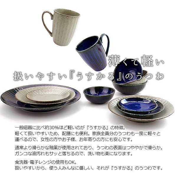 【選べる2色】 大皿 22.2cm 7寸皿 ネプチューン&ウラヌス 日本製 美濃焼 陶器 和食器 お皿 ディナープレート パスタ皿 ブルー グレー カフェ おしゃれ 北欧風 k-s-kitchen 05