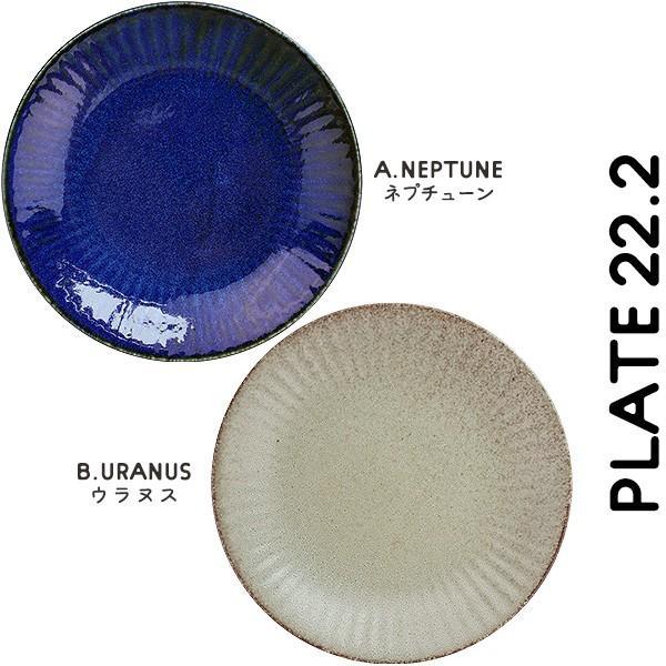 【選べる2色】 大皿 22.2cm 7寸皿 ネプチューン&ウラヌス 日本製 美濃焼 陶器 和食器 お皿 ディナープレート パスタ皿 ブルー グレー カフェ おしゃれ 北欧風 k-s-kitchen 09
