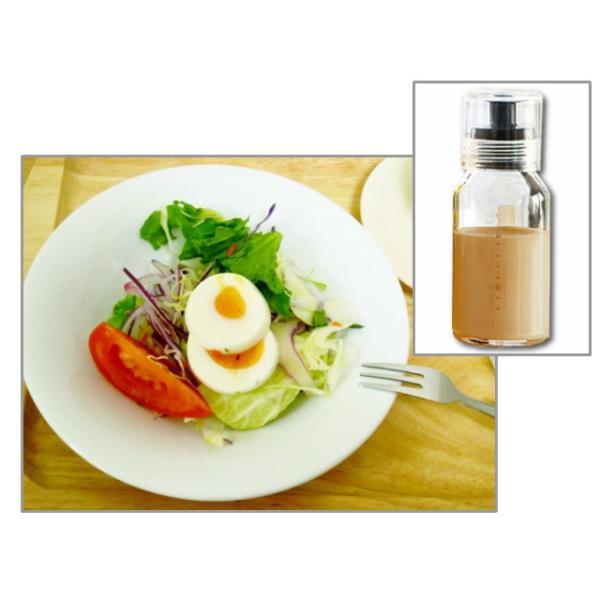 ハリオ ドレッシングボトル120cc グリーン+サラダボウル5枚セット 計6点 福袋 耐熱 ガラス 日本製 ボール|k-s-kitchen|03