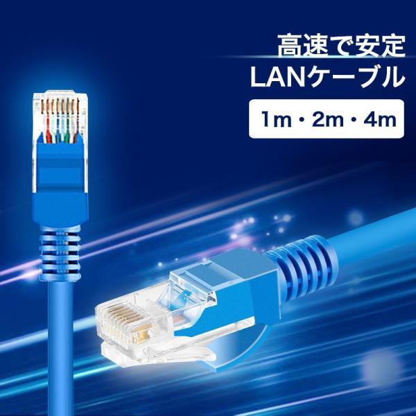 LANケーブル CAT5e Gigabit 爪折れ防止 やわらか 1m 2m 4m ギガビット カテゴリ5e ランケーブル 【PlayStation 4 対応】|k-seiwa-shop
