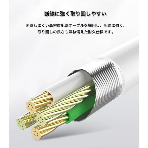 ライトニングケーブル Apple認証 Lightningケーブル MFi認証 iPhone XS iPhone XR ケーブル 純正品質 急速充電 1m iPod Pad データ転送 ナイロン製 アルミ端子|k-seiwa-shop|12