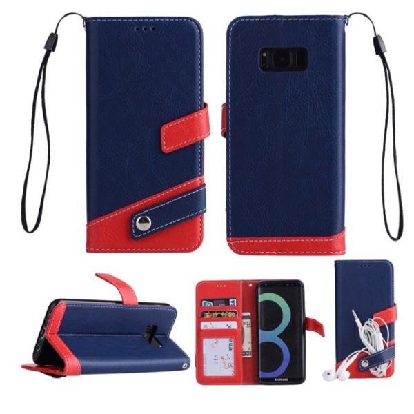 ギャラクシーS10 ケース ギャラクシーS9 ケース Galaxy S8 ケース 手帳型 おしゃれ Galaxy S8+ S9 S10+ カバー ストラップ付き カード収納 財布型 スタンド機能|k-seiwa-shop|13