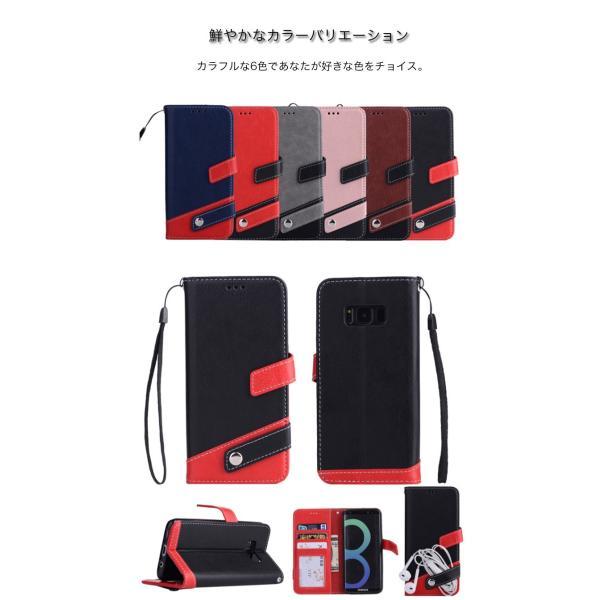 ギャラクシーS10 ケース ギャラクシーS9 ケース Galaxy S8 ケース 手帳型 おしゃれ Galaxy S8+ S9 S10+ カバー ストラップ付き カード収納 財布型 スタンド機能|k-seiwa-shop|08
