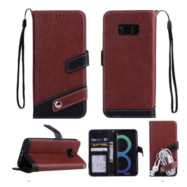 ギャラクシーS10 ケース ギャラクシーS9 ケース Galaxy S8 ケース 手帳型 おしゃれ Galaxy S8+ S9 S10+ カバー ストラップ付き カード収納 財布型 スタンド機能|k-seiwa-shop|09