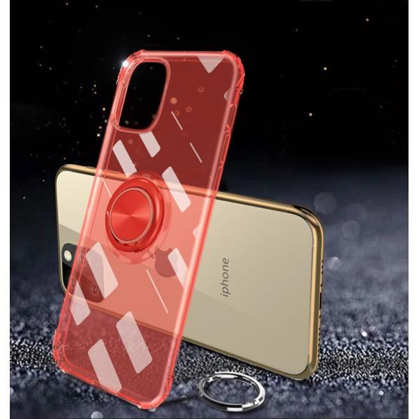 リング付きiphoneケース iPhone11 ケース iPhone11 Pro Max カバー iPhone11Pro ケース 耐衝撃 リング付き ストラップ機能 ガラスフィルム付き k-seiwa-shop 11