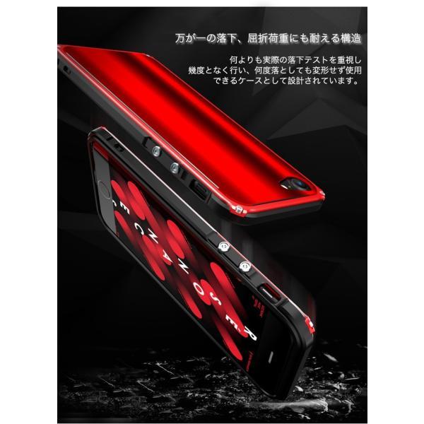 iPhone8 Plus 8 iPhone7Plus 7 ケース 耐衝撃 iPhoneXS Max XR X バンパー アルミ ストラップ機能 ワイヤレス充電可 iPhone6sPlus 6s 6 6Plus カバー おしゃれ k-seiwa-shop 06