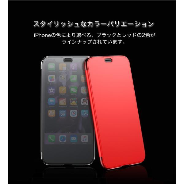 iPhoneXS Max ケース 手帳型 iPhoneX ケース 耐衝撃 iPhoneXS カバー ブランド 覗き見防止 iPhoneXR ケース フタを閉じたまま操作可能 TPU 薄型 軽量|k-seiwa-shop|11