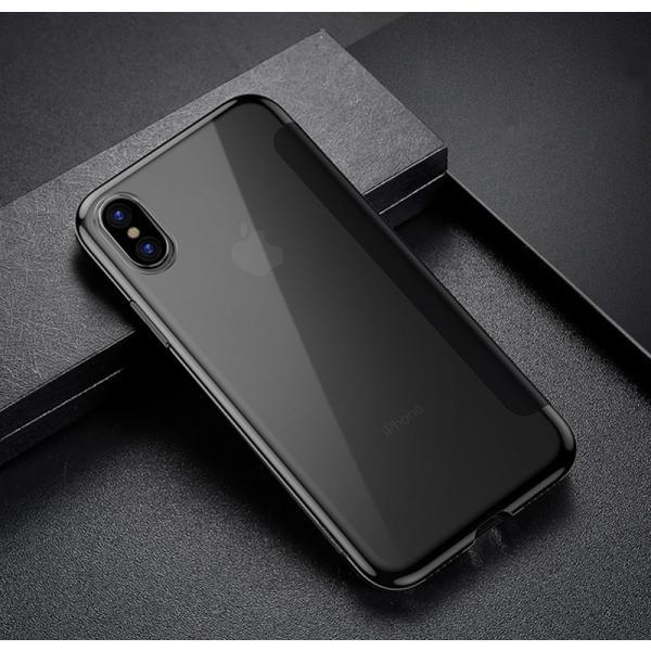 iPhoneXS Max ケース 手帳型 iPhoneX ケース 耐衝撃 iPhoneXS カバー ブランド 覗き見防止 iPhoneXR ケース フタを閉じたまま操作可能 TPU 薄型 軽量|k-seiwa-shop|15