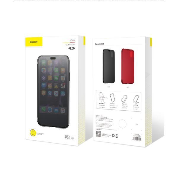 iPhoneXS Max ケース 手帳型 iPhoneX ケース 耐衝撃 iPhoneXS カバー ブランド 覗き見防止 iPhoneXR ケース フタを閉じたまま操作可能 TPU 薄型 軽量|k-seiwa-shop|16
