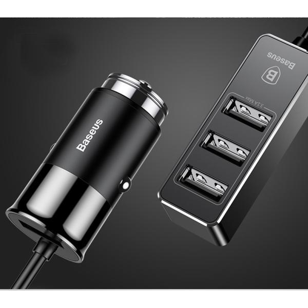 カーチャージャー アルミ製 車用 iPhoneXS Max iPhoneXR 充電器 コンパクト USBボート 4台同時充電 出力最大5.5A スマートIC機能 急速充電|k-seiwa-shop|15