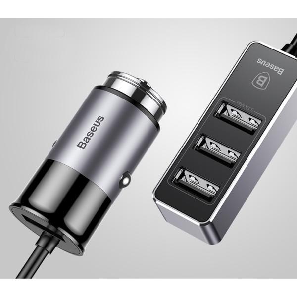 カーチャージャー アルミ製 車用 iPhoneXS Max iPhoneXR 充電器 コンパクト USBボート 4台同時充電 出力最大5.5A スマートIC機能 急速充電|k-seiwa-shop|16