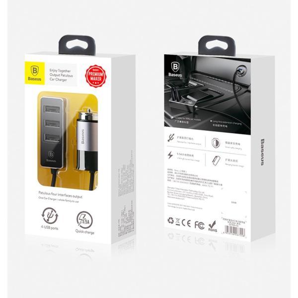 カーチャージャー アルミ製 車用 iPhoneXS Max iPhoneXR 充電器 コンパクト USBボート 4台同時充電 出力最大5.5A スマートIC機能 急速充電|k-seiwa-shop|18
