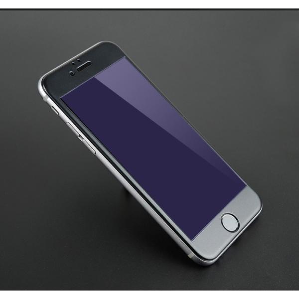 iPhone8 / 8 Plus 7 / 7 Plus / 6s Plus/6 Plus/6s/6/X 強化ガラスフィルム ブルーライトカット 9H硬度 日本旭硝子製素材 衝撃吸収 気泡レス 指紋防止 全面保護|k-seiwa-shop|16