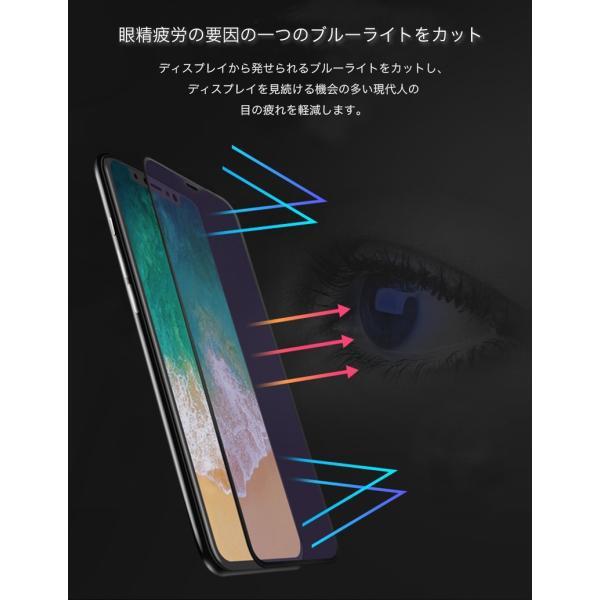 iPhone8 / 8 Plus 7 / 7 Plus / 6s Plus/6 Plus/6s/6/X 強化ガラスフィルム ブルーライトカット 9H硬度 日本旭硝子製素材 衝撃吸収 気泡レス 指紋防止 全面保護|k-seiwa-shop|05