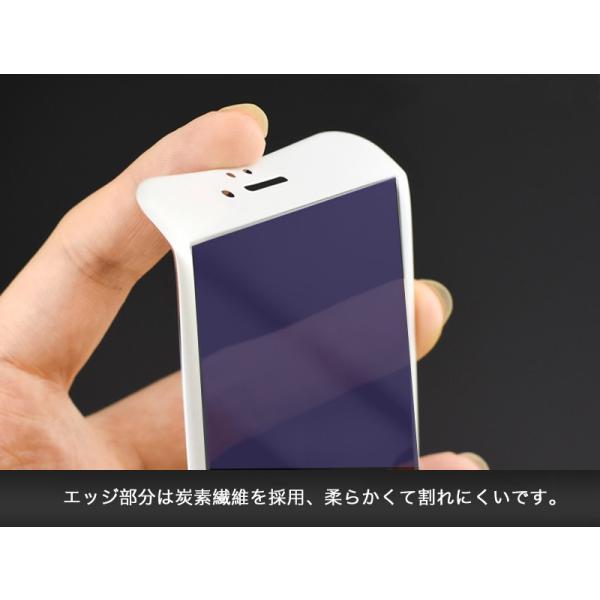iPhone8 / 8 Plus 7 / 7 Plus / 6s Plus/6 Plus/6s/6/X 強化ガラスフィルム ブルーライトカット 9H硬度 日本旭硝子製素材 衝撃吸収 気泡レス 指紋防止 全面保護|k-seiwa-shop|06
