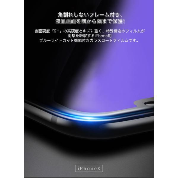 2枚セット iPhoneXSMax クリアケース同梱 iPhoneXS ガラスフィルム ブルーライトカット iPhoneXR 日本旭硝子製素材 9H硬度 耐衝撃 アイフォンX 液晶保護フィルム|k-seiwa-shop|02