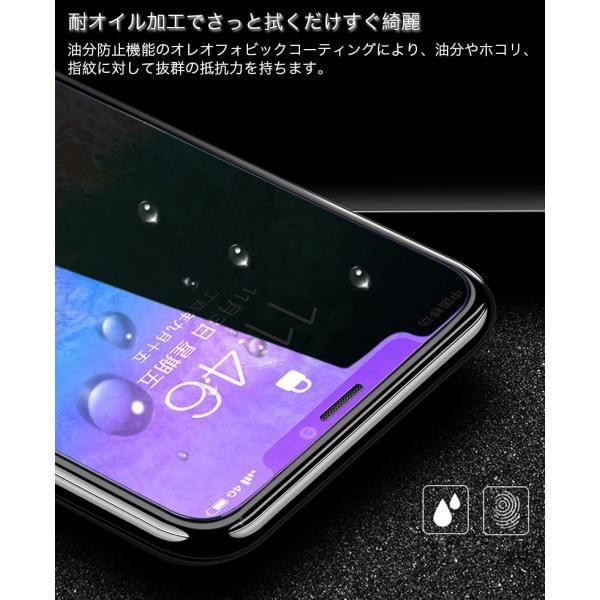 iPhone XR ガラスフィルム ブルーライトカット 3D iPhone XS Max X 6s 6 Plus iPhone8 Plus 7 Plus iPhoneSE 5s 5 フィルム 日本旭硝子素材 9H硬度|k-seiwa-shop|06