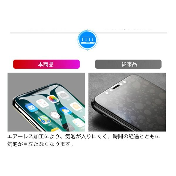 iPhoneXS Max iPhoneXS iPhoneX iPhoneXR ガラスフィルム 2枚セット iPhone8 Plus iPhone7 Plus iPhone6s 6 Plus 強化ガラス フィルム 3D 硬度9H 衝撃吸収|k-seiwa-shop|05