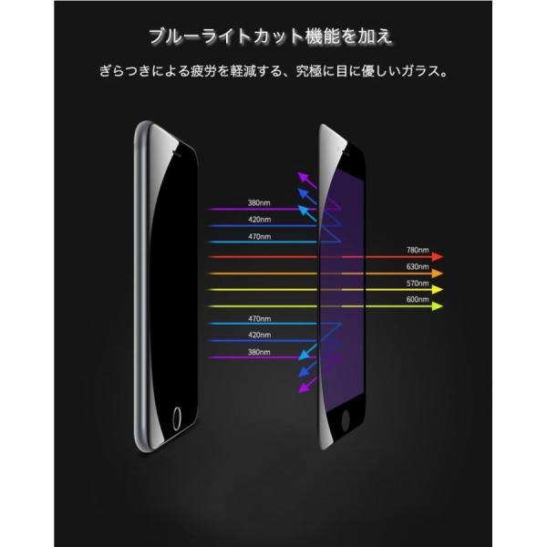 2枚/セット iPhone XR XS Max iPhone11 Pro Max iPhone8 iPhone6s 6 7 8 Plus X ガラスフィルム ブルーライトカット 日本旭硝子製素材 9H硬度 ラウンドエッジ|k-seiwa-shop|05