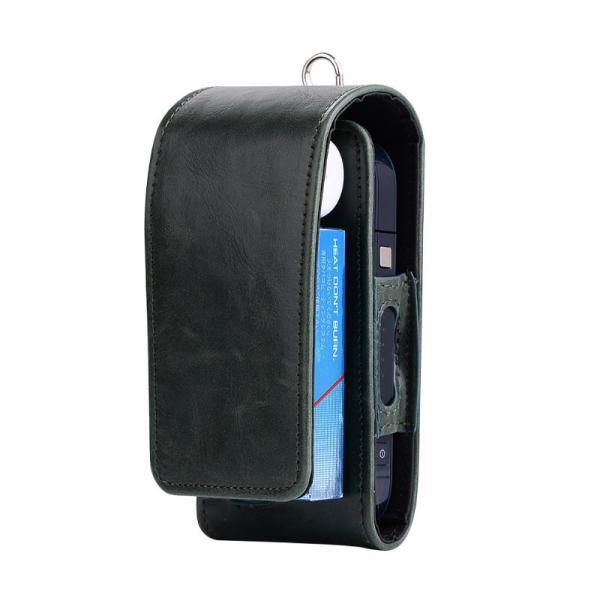 iQOS アイコス 専用 2.4 Plus 新型iQOS対応 iQOSケース ベルト掛け カバー 電子たばこ バッグ レザー 革 ポーチ ホルダー カラビナ取付可 まとめて収納|k-seiwa-shop|11