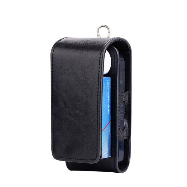 iQOS アイコス 専用 2.4 Plus 新型iQOS対応 iQOSケース ベルト掛け カバー 電子たばこ バッグ レザー 革 ポーチ ホルダー カラビナ取付可 まとめて収納|k-seiwa-shop|12